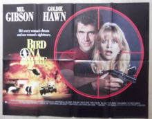 Bird on a Wire, Original UK Quad Poster, Mel Gibson, Goldie Hawn, '90